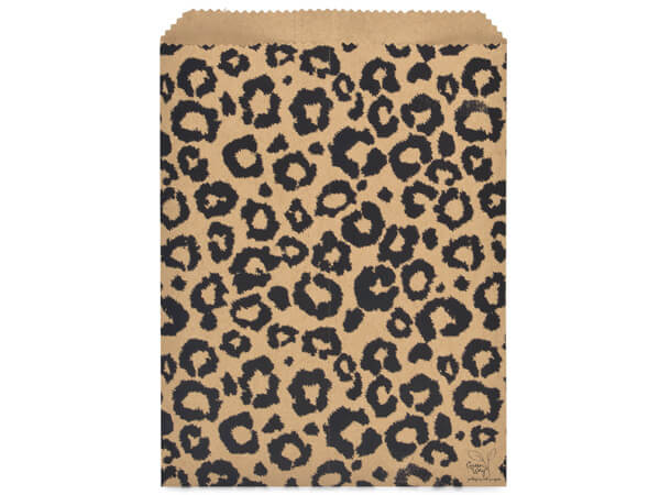 "Leopard Kraft Paper Merchandise Merchandise Bags, 8.5x11"""
