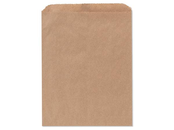 "Brown Kraft Paper Merchandise Bags, 8.5x11"", 1000 Bulk Pack"