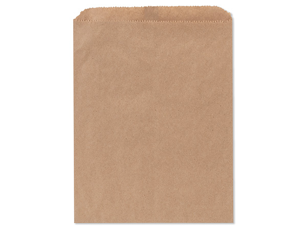 "Brown Kraft Paper Merchandise Bags, 8.5x11"", 100 Pack"