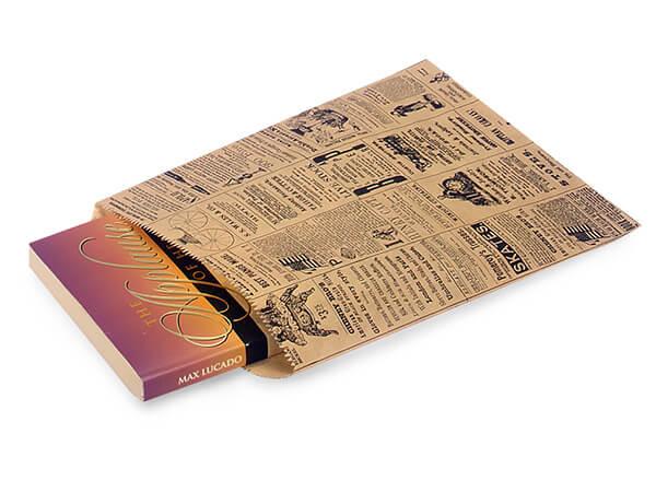 """Newsprint Kraft Paper Merchandise Merchandise Bags, 8.5x11"""""""
