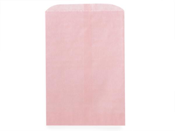 "Petal Pink Paper Merchandise Bags, 8.5x11"", 1000 Pack"