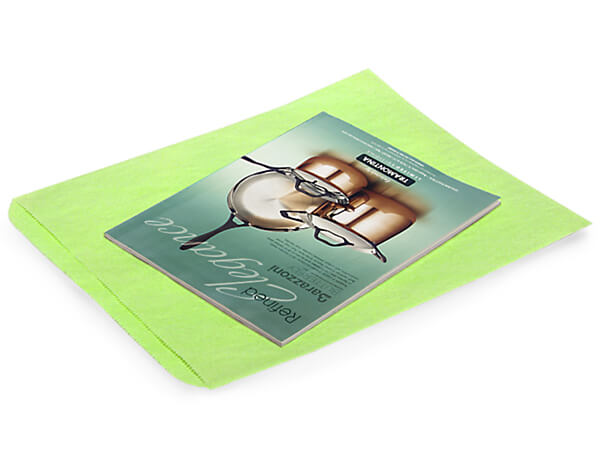 Lime Green Merchandise Bags 12 X15""