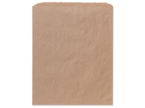 "Brown Kraft Paper Merchandise Bags, 12x15"", 1000 Bulk Pack"