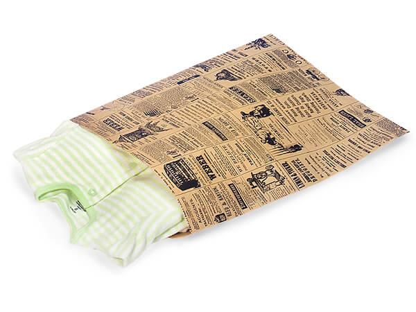 """Newsprint Kraft Paper Merchandise Merchandise Bags, 12x15"""""""