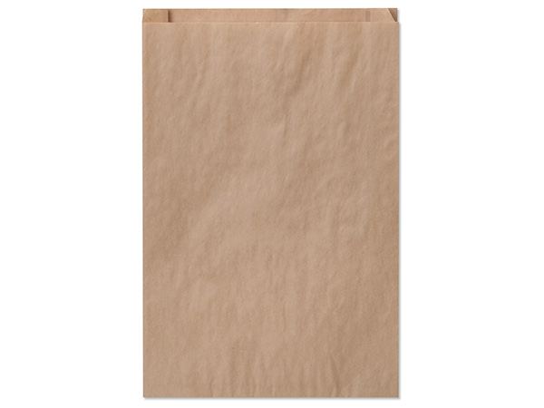 "Brown Kraft Paper Merchandise Bags, 12x2.75x18"", 500 Bulk Pack"