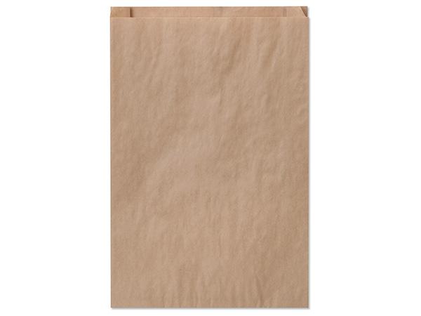 """Brown Kraft Paper Merchandise Bags, 12x2.75x18"""", 50 Pack"""