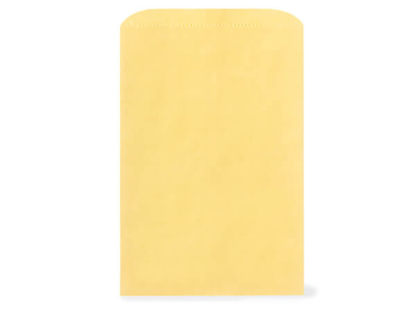 "Sunrise Yellow Paper Merchandise Bags, 12x2.75x18"", 500 Pack"