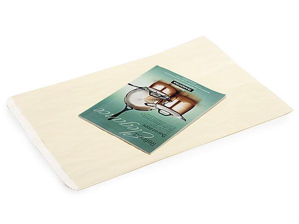 "Cream Paper Merchandise Bags, Bags, 14x3x21"", 500 Pack"