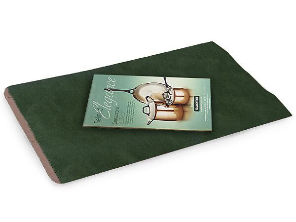 "Hunter Green Paper Merchandise Bags, 14x3x21"", 500 Pack"