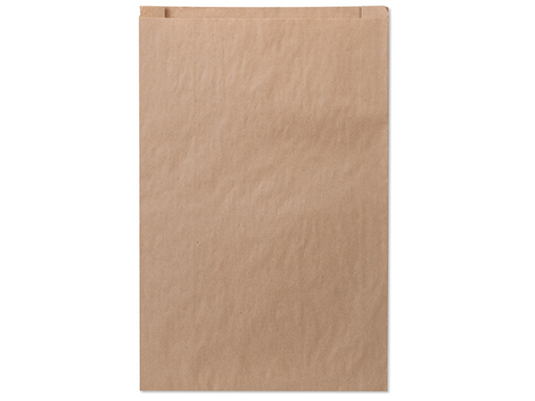 "Brown Kraft Paper Merchandise Bags, 14x3x21"", 500 Bulk Pack"