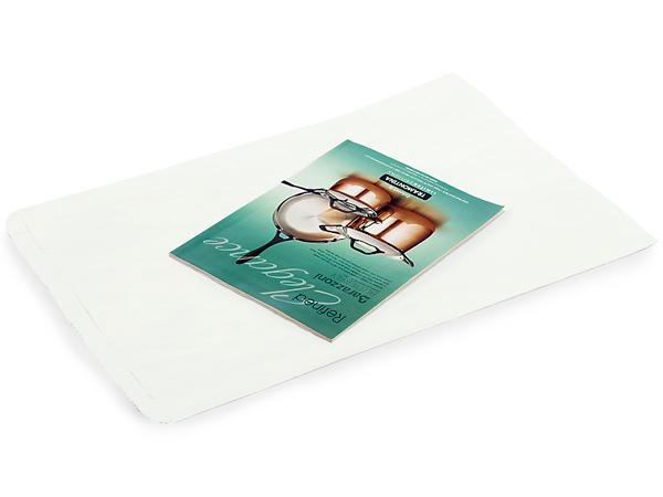 "White Kraft Paper Merchandise Bags, 14x3x21"", 500 Bulk Pack"