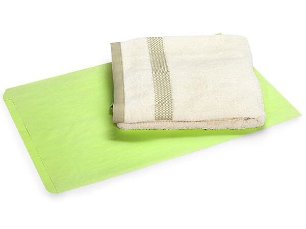 """Lime Green Paper Merchandise Bags, 16x3.75x24"""", 500 Pack"""
