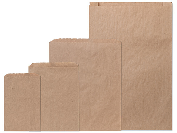 Brown Kraft Paper Merchandise Bag Assortment, 400 Bags Total