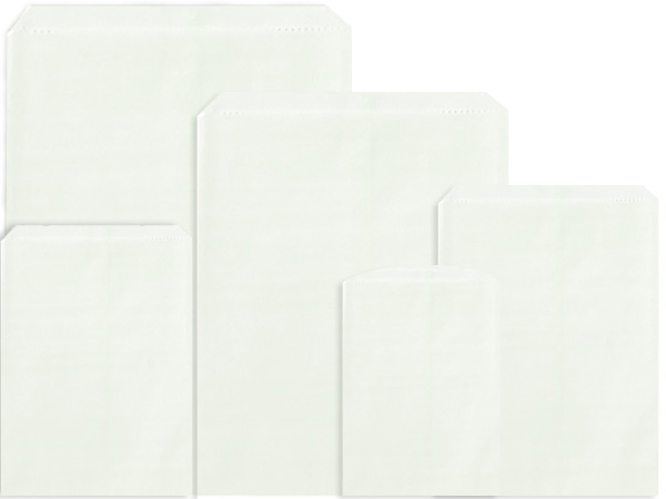 White Merchandise Bag Assortment