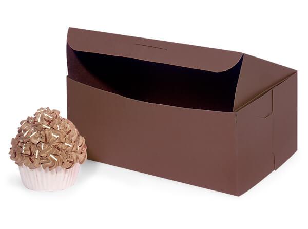 "8x5-1/2x3"" Chocolate Boxes 10 Pk 1-piece Lock Corner Box"