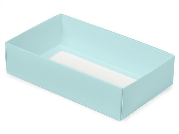 "Aqua Macaron and Cookie Box Base, 8.25x5x2"", 100 Pack"