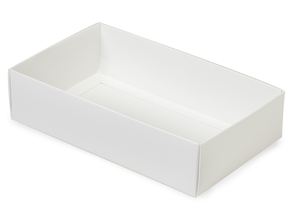 "White Macaron and Cookie Box Base, 8.25x5x2"", 100 Pack"