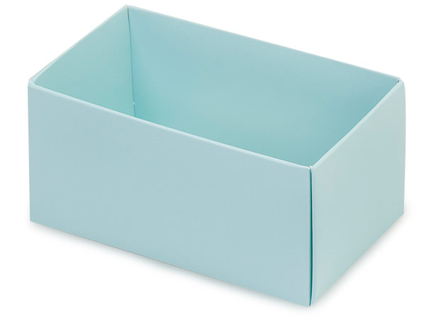 "Aqua Macaron and Cookie Box Base, 3.75x2.5x2"", 50 Pack"