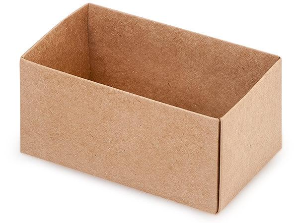 "Kraft Macaron and Cookie Box Base, 3.75x2.5x2"", 50 Pack"