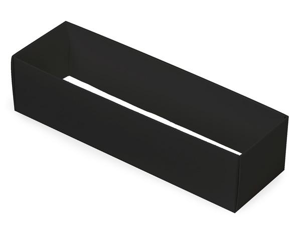 "Black Macaron and Cookie Box Base, 8.25x2.5x2"", 100 Pack"