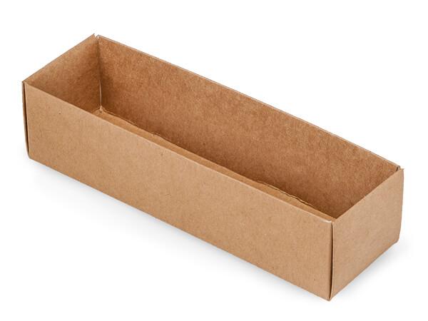 "Kraft Macaron and Cookie Box Base, 8.25x2.5x2"", 100 Pack"