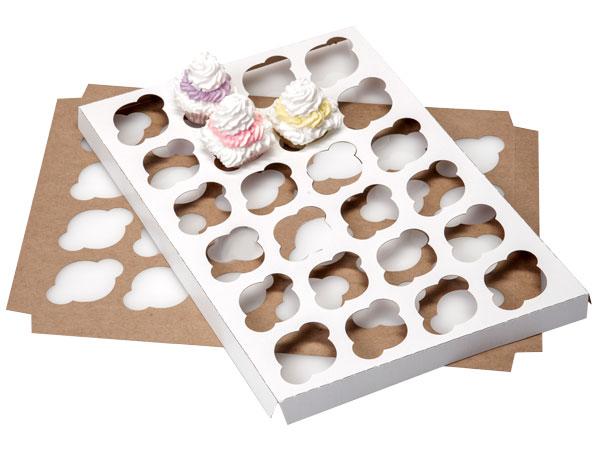 "Mini Cupcake Inserts, Holds 24, 13-15/16x9-15/16x3/4"", 10 Pack"