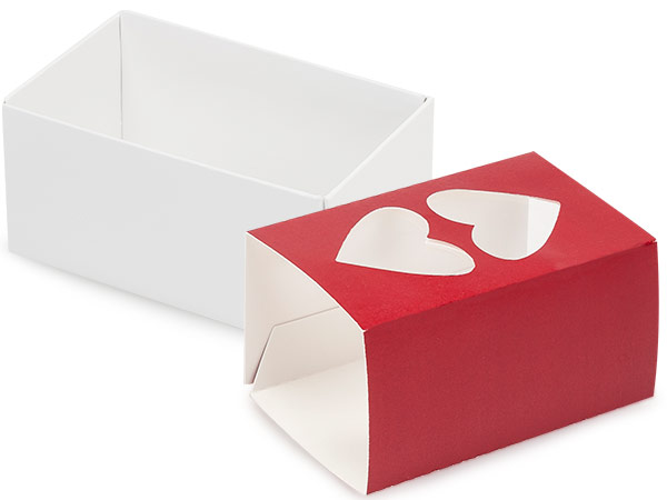 "Red Heart Macaron Cookie Box Set, 3.75x2.5x2"", 10 Pack"