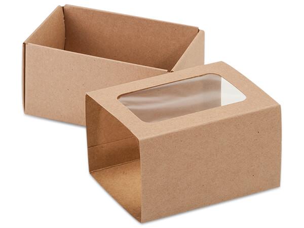 "Kraft Macaron Cookie Box Set, 3.75x2.5x2"", 10 Pack"