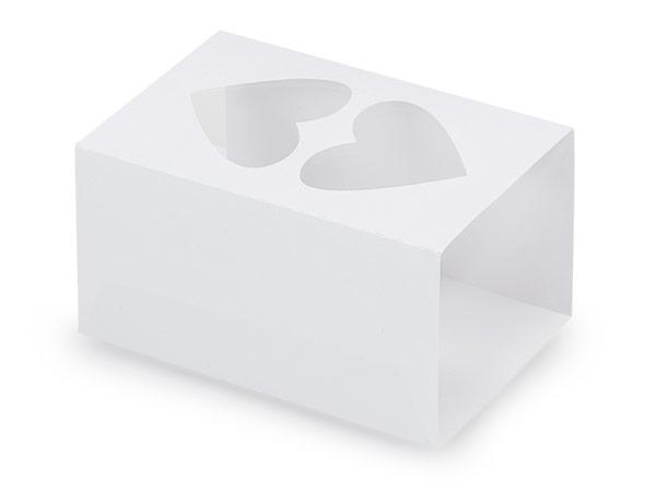 "White Macaron & Cookie Sleeve with Heart Window, 3.75x2.5x2"", 50 Pack"