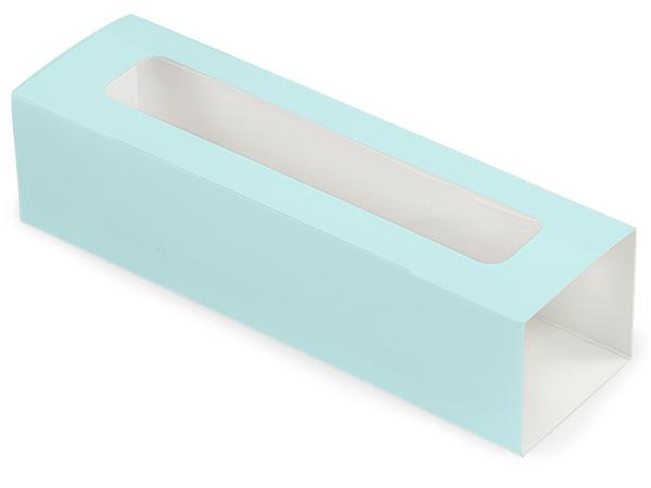 "Aqua Macaron and Cookie Sleeve with Window, 8.25x2.5x2"", 100 Pack"