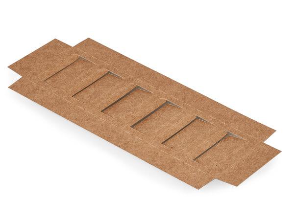 "Kraft Macaron Cookie Box Insert, 8x2.5x.75"", 100 Pack"