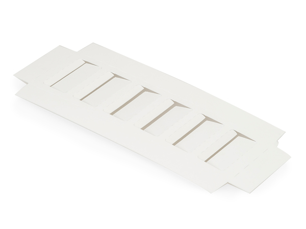 "White Macaron Cookie Box Insert, 8x2.5x.75"", 100 Pack"