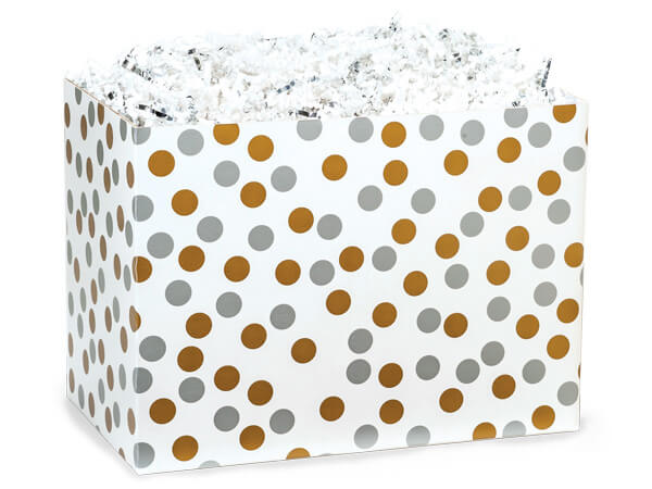 Metallic Dots Basket Boxes