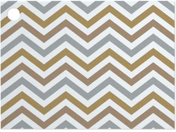 Metallic Chevron Theme Gift Cards 3-3/4 x 2-3/4""