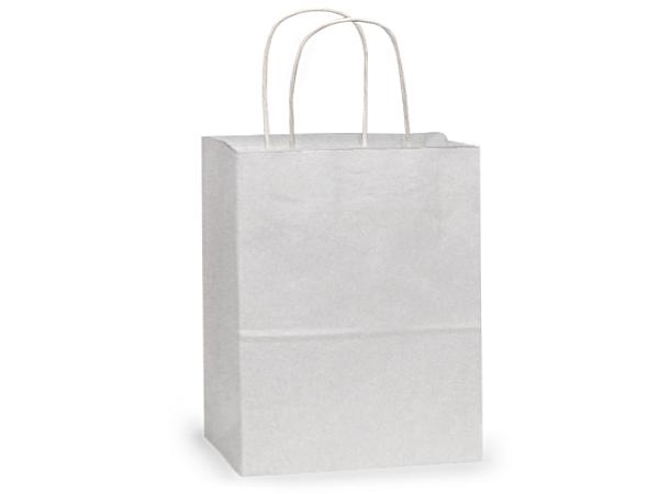 "Medium White Kraft Paper Bags 250 Pk 13x6x15-1/2"""