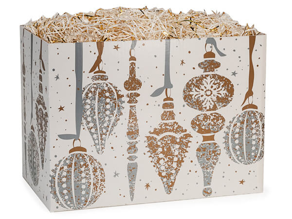 Mercury Glass Basket Boxes