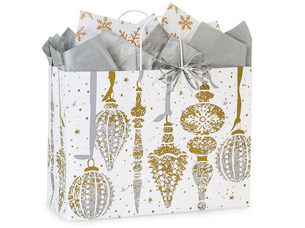 "Mercury Glass Christmas Shopping Bags, Vogue 16x6x12.5"", 25 Pack"