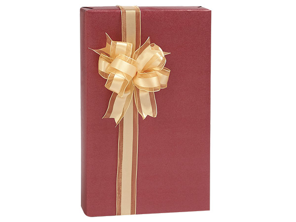 "Berry Red Metallic Kraft Gift Wrap, 24""X417' Counter Roll"