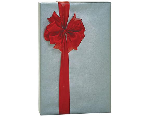"Silver Metallic Kraft Gift Wrap, 24""x85' Cutter Roll"