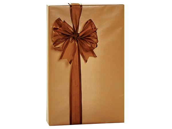"Copper Metallic Kraft Gift Wrap, 24""X417' Counter Roll"