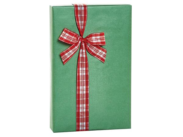 "Holiday Green Metallic Kraft Gift Wrap, 24""X417' Counter Roll"