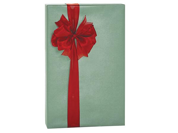 "Sage Green Metallic Kraft Gift Wrap 24""x85' Cutter Roll"