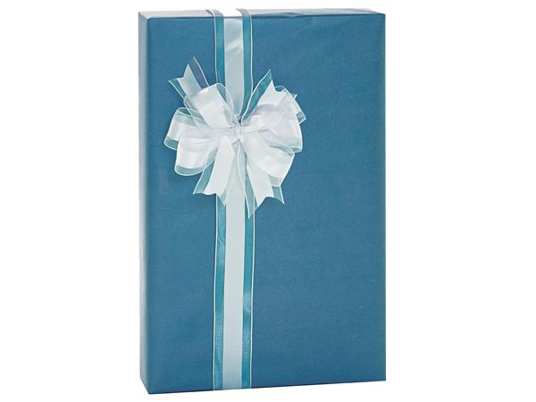 """Catalina Blue Metallic Kraft Gift Wrap, 24""""x85' Cutter Roll"""