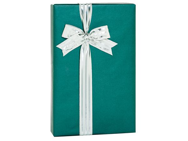 """Teal Metallic Kraft Gift Wrap, 24""""x85' Cutter Roll"""