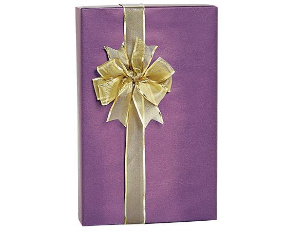 "Regal Purple Metallic Kraft Gift Wrap, 24""x85' Cutter Roll"