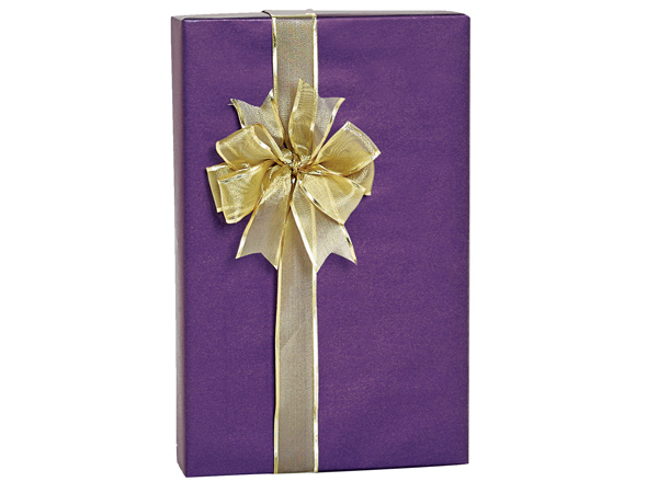 "Regal Purple Metallic Kraft Gift Wrap, 24""x417' Counter Roll"