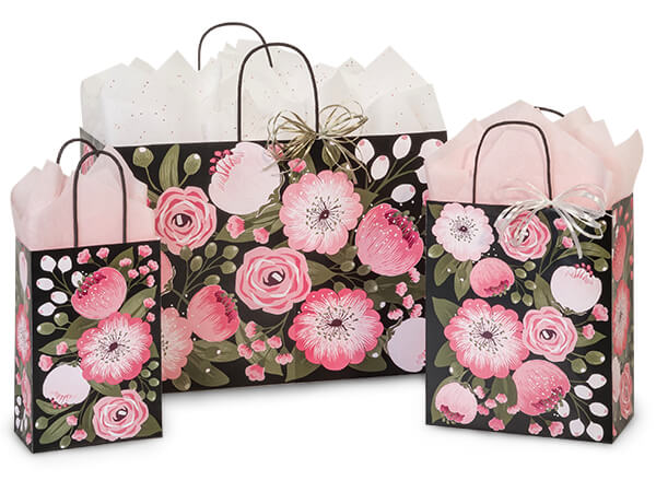 Moonlit Blooms Paper Shopping Bags