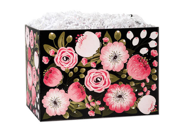 """Moonlit Blooms Basket Box, Small 6.75x4x5"""", 6 Pack"""