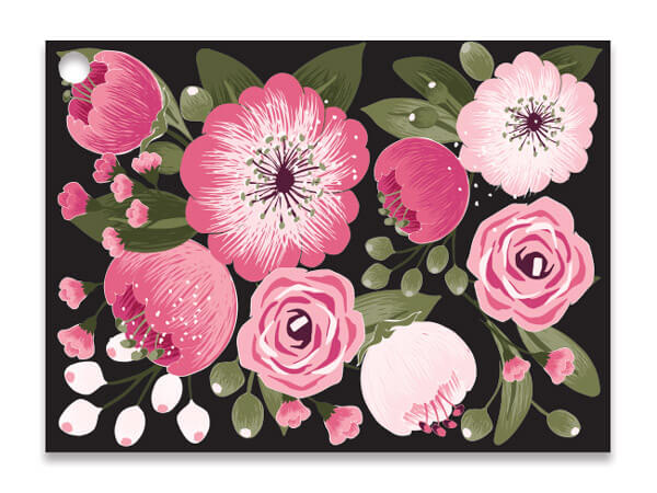 Moonlit Blooms Theme Gift Cards 3.75x2.75, 6 Pack