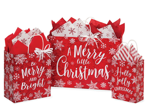 Merry Little Christmas Shopping Bags